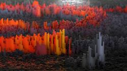 Das Themenbild Big Data zeigt ein 3D-Diagramm mit Farbverlauf.