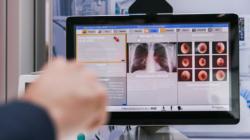 Das Themenbild E-Health zeigt einen Patientenmonitor für die Intensivstation.