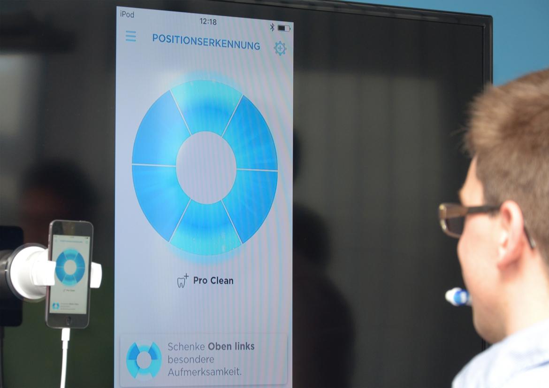 Weil Smartphonekamera und Sensorik in der Zahnbürste verlässliche Daten zur Putzqualität liefern, kann die App gezielte Tipps zur Verbesserung der täglichen Zahnpflege geben.