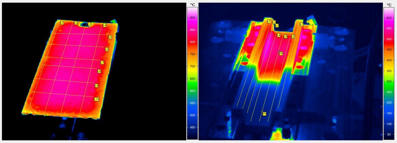 Durch gezielte Temperaturführung beim Presshärten erhält das Bauteil die gewünschten Crasheigenschaften.
