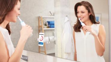 Bei der Oral B Genius hilft der Zahnpflege-Coach auf dem Smartphone, die Zähne optimal zu pflegen.