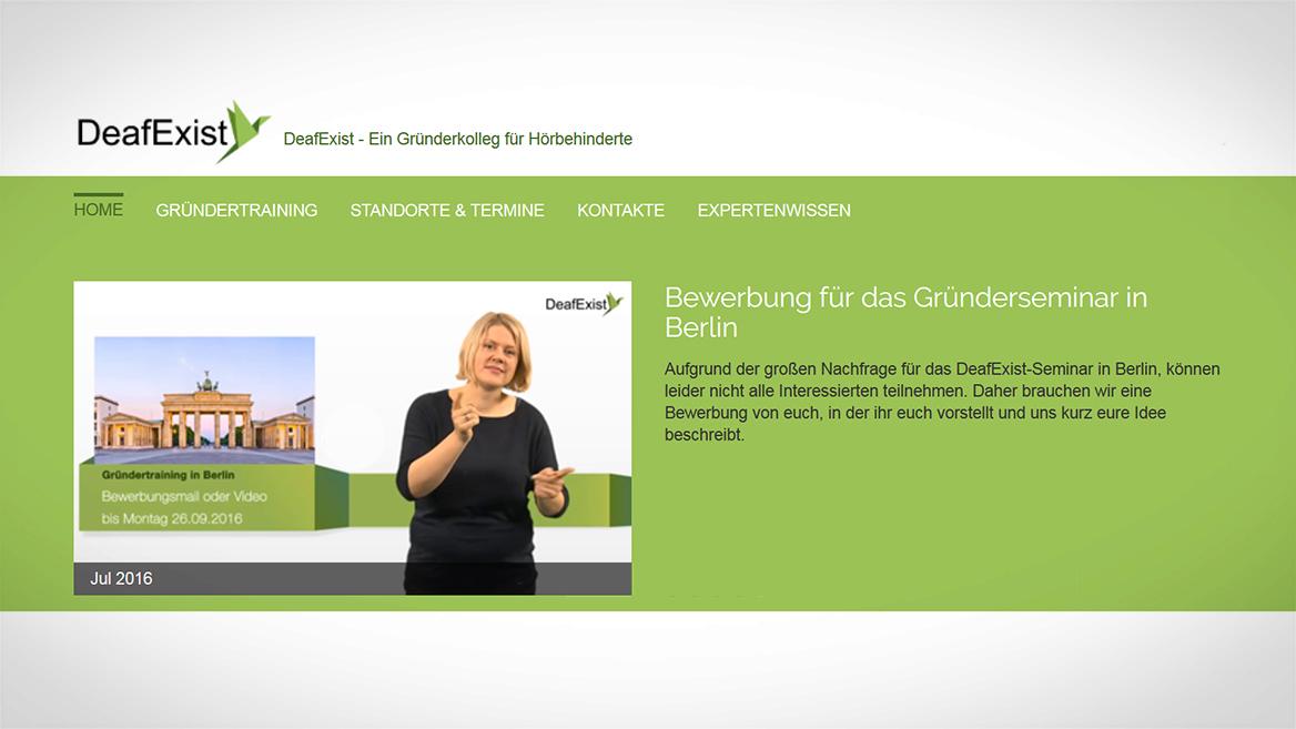 Die neueste Webplattform DeafExist.