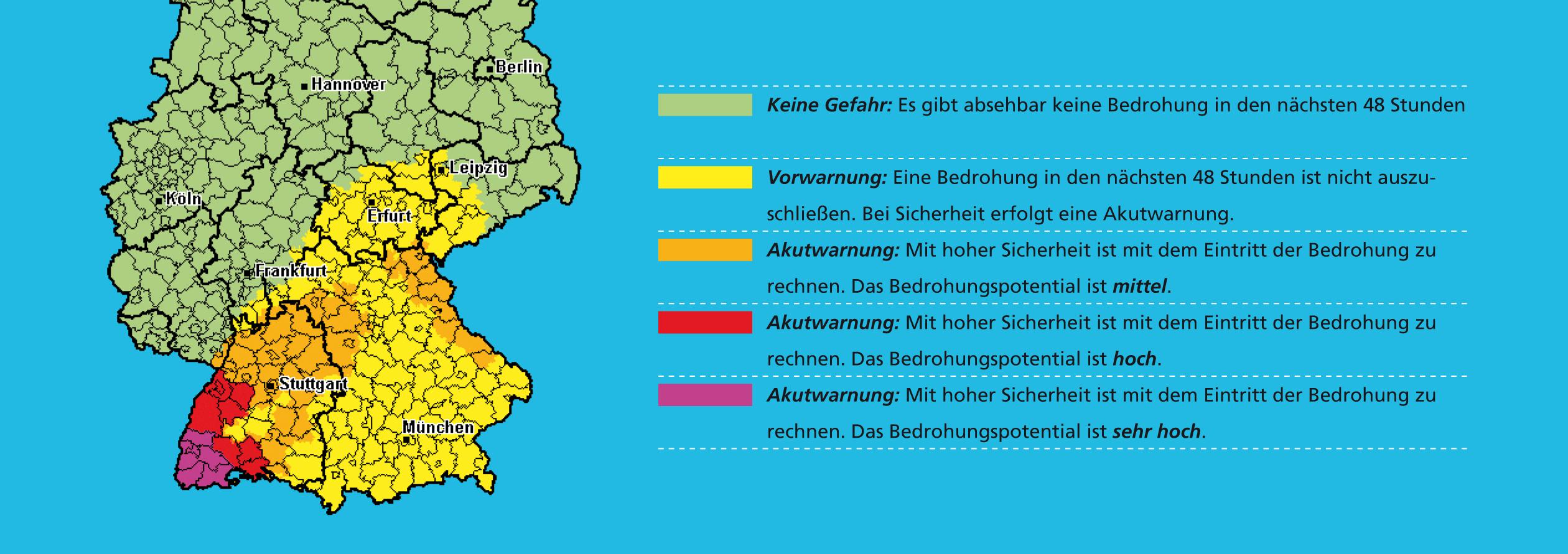 Warnstufenkarte